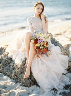 Warm Coastal Wedding Inspiration
