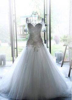 Lace Sleeve Wedding Dress Fairy Wedding Dress by Prettyobession