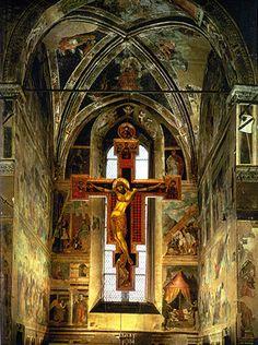 Piero della Francesca frescoes in the 13th century church of St Francis in Arezzo, Italy