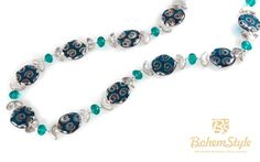 """╰☆╮Turquoise Blue Clear Silver Peacock Statement Necklace Czech Glass Beaded Statement Necklace 20.47"""" 52cm by BohemStyle http://bohemstyle.com/product/turquoise-blue-clear-silver-peacock-necklace-czech-glass-beaded-necklace-20-47-52cm-by-bohemstyle/?utm_source=PN&utm_medium=bohemstyle&utm_campaign=SNAP #BohemStyle #boho #bohostyle #bohemianjewelry #bohojewelry #jewelry #jewelry #handmade"""