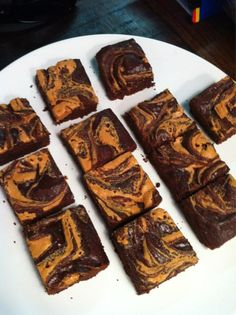 CLEAN chocolate-peanut butter brownies