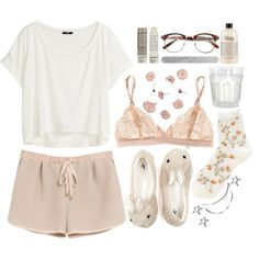 A fashion look from January 2014 featuring jersey t shirt, Mulberry and lingerie bra. Browse and shop related looks. Lazy Day Outfits, Summer Outfits, Casual Outfits, Lounge Outfit, Lounge Wear, Teen Fashion, Fashion Outfits, Womens Fashion, Cute Pajamas