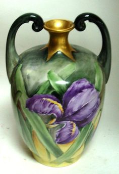 hand painted Limoges vase