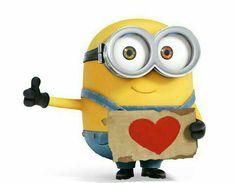 Bob, der kleine süße Minion möchte per Anhalter zu seiner Herzdame ❤ fahren! :o)