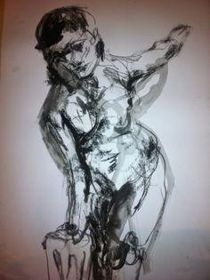 Ink drawing by Belinda Evans BelindasArtForum