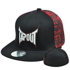 "Tapout Cage Fighting UFC MMA Flat Bill Stretch Flex Fit Size Large XLarge Hat by Tap Out. $19.99. Brand New Item with Tags. FlexFit Large - XLarge. Official Licensed Product. Flex Fit. 97% Cotton 3% Spandex. Authentic Tapout Flat Bill Flex Fit Hat. ""TAPOUT"" embroidered on front panel. Right side panel and left side panel both have embroidered tap out designed. Plain back panel. Flex Fit hat, fits sizes Large to X-Large. Black flat bill visor. Officially Licensed Tapo..."