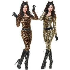 Halloween Costumes: Animal Catsuit Costume Halloween Fancy Dress BUY IT NOW ONLY: $40.99