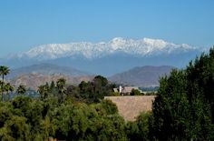 Mount Baldy with snow