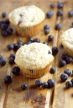Perfect Blueberry Muffins are easy and delicious! A perfect breakfast recipe that you can make ahead, and even freeze for later. This recipe was handed down through the generations, and let me tell you, it is FABULOUS! Best Blueberry Muffins, Blue Berry Muffins, Good Food, Yummy Food, Yummy Treats, Sweet Treats, Diy Food, Chocolate Recipes, Just Desserts