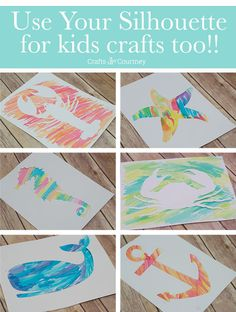 I love using my silhouette cameo, but for this silhouette craft I decided to do a fun nautical themed water color art project with the kids. Check out this easy how to kids craft.
