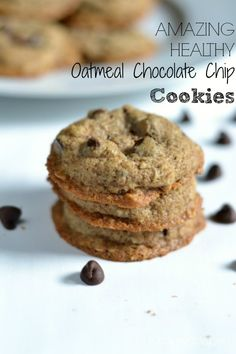 These Oatmeal Chocolate Chip Cookies are made with no white flour and just a tad of sugar for the perfect new version of a family favorite.