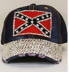 928037e3ab34 See more. Confederate Rhinestone Battle Flag Cap Cowgirl Hats