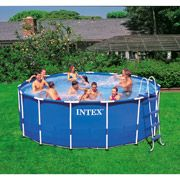 Discount Online: Intex 15 x 48 Metal-Frame Swimming Pool