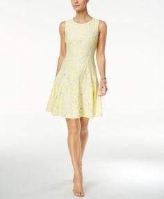 Tommy Hilfiger Floral Lace Fit & Flare Dress