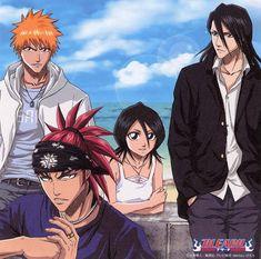 Bleach Character Poster: Ichigo, Renji, Rukia, and Byakuya