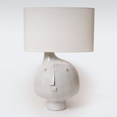 Earthenware lamp base by Atelier DaLo (France)—a collaboration of DAniel Derock and LOïc de Bailliencourt, Paris