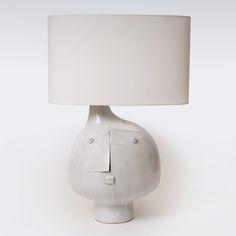 Earthenware lamp base by Atelier DaLo (France)—a collaboration of DAniel Derock and LOïc de Bailliencourt, Paris