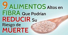 Las investigaciones sugieren que una dieta alta en fibra puede ayudar a reducir su riesgo de muerte prematura por cualquier causa. http://articulos.mercola.com/sitios/articulos/archivo/2015/01/26/alimentacion-alta-en-fibra.aspx