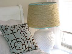 $1 Lamp Makeover (Sisal Lampshade) via My Life in a Nutshell