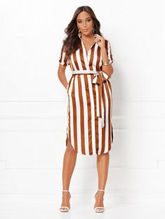 54629e2d558 Shop Lynda Stripe Shirtdress - Eva Mendes Collection. Find your perfect  size online at the. New York   Company