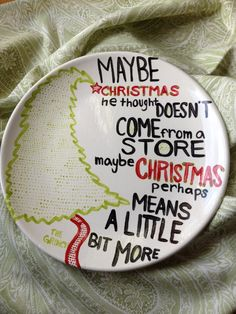 What a cute plate! I love the grinch!  Christmas Grinch Plate by DolledUpDishes on Etsy, $25.00