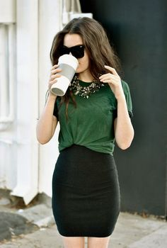 That emerald green blouse is beautiful