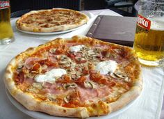 """So you may not think """"pizza"""" when thinking about Croatian food, but trust us it's not just Italy that makes fantastic pizza. This pizza is from a great pizzeria in #Lumbarda #Korcula"""