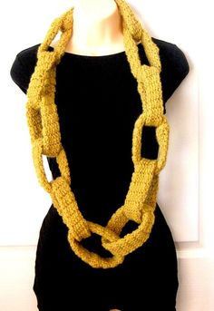 Oversized Chain Link Scarf in Australian Wool by Mel P Designs: I LOVE these chunky, cosy scarves and they are made in Perth (as am I)!