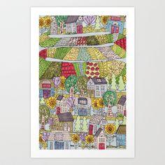 neighborhood garden Art Print by jennifer judd-mcgee - $15.60