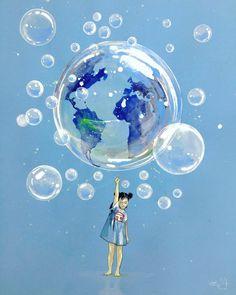 Fragile world by lora-zombie.deviantart.com on @DeviantArt