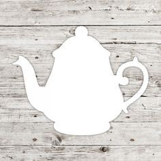 Papieranhänger Teekanne