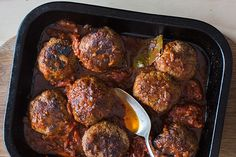 Venison meatballs - Recipes - Eat Well with Bite Mince Recipes, Venison Recipes, Meatball Recipes, Cooking Recipes, Lamb Recipes, Venison Meatballs, Oven Dishes, Easy Salads, Lunch