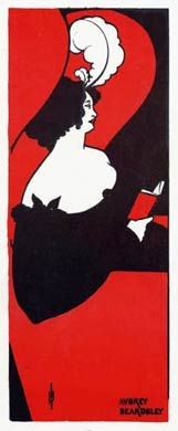 Aubrey Beardsley... How cool is this! So bold!