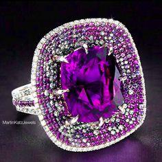 #jewelry #finejewelry #diamonds #amethyst #ring #luxury #MartinKatz #MartinKatzJewels