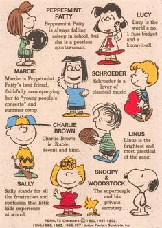 Charlie Brown and the rest of the peanut gang