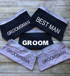 Groom - Mr - groomsman - best man - boxers - briefs - gift - bridal - party - funny - practical - wedding by ShopRosebudDesigns on Etsy