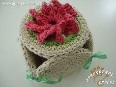 Porta Papel Higiênico de Croche Fiore - Jogo de Banheiro Barbante - 1º P...