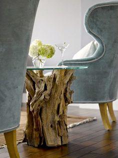Handmade Home Decor Driftwood Furniture, Driftwood Table, Furniture Decor, Driftwood Crafts, Furniture Price, Driftwood Ideas, House Furniture, Paint Furniture, Kitchen Furniture
