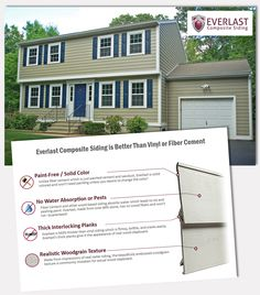 Everlast Composite Siding is a Great Alternative for homeowners who want the look of real wood without ever having to paint. It's a thick durable product that looks amazing!