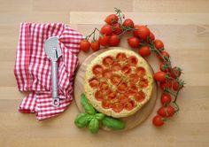 Focaccia z pomidorkami (Focaccia con pomodorini)