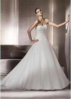 EXQUISITE ORGANZA SWEETHEART NECKLINE BALL GOWN WEDDING DRESS WITH BEADINGS LACE FORMAL PROM PARTY CUSTOM SIZE