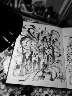 State of sryle Tattoo Style, Tattoo Lettering Styles, Chicano Lettering, Graffiti Lettering Fonts, Script Lettering, Typography Letters, Tattoo Fonts, Graphic Design Typography, Lettering Design, Graffiti Art