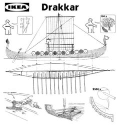 You Can Buy an Actual Viking Ship at Denmark's Viking Ship Museum or you can just get this form Ikea