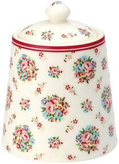 Cookie Jar in a Rose Pattern
