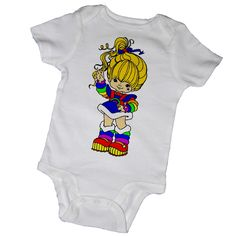 BODYSUITS are 100% comfortable cotton and available in sizes:   3m, 6m, 9m, 12m & 18m.   				 TOT TEES are 100% comfortable cotton and available in sizes:  2T, 3T, 4T & 5/6.  Please note: tot tees are cut small so please order one size larger.  Thanks for browsing!