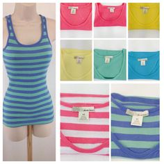Derek Heart Womens XSmall XS Ribbed  Tank Top Cami 100% Cotton #DerekHeart #TankCami #Casual