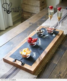 DIY Chalkboard Serving Tray Tutorial and YouTube Video… na Stylowi.pl