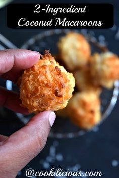 2-Ingredient Coconut Macaroons - Holiday Dessert Recipe! - Cookilicious