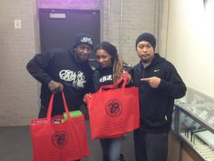 Mithra's Wayne Reyes with Ceaser and Dutchess of VH1's: Black Ink. - picking up supplies at the Mithra NY showroom.