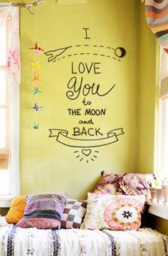 Adesivo de parede i love you - StickDecor | Decoração Criativa